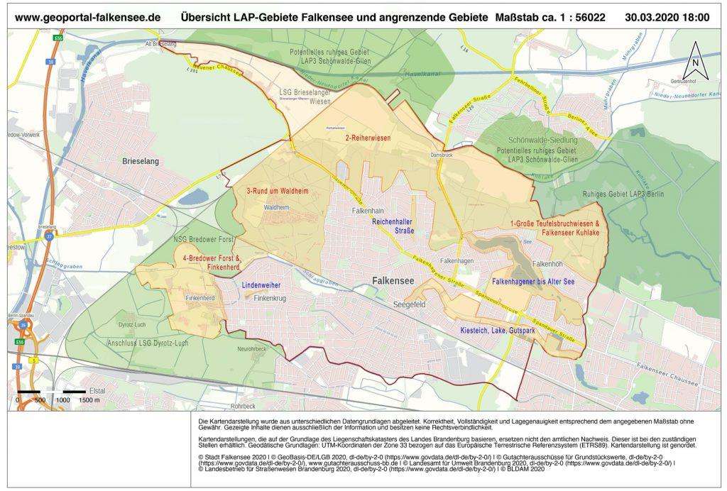 Ruhige Gebiete in Falkensee und Umgebung