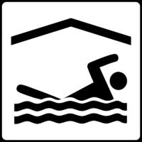 Hotel Symbol Verfügt Über Hallenbad